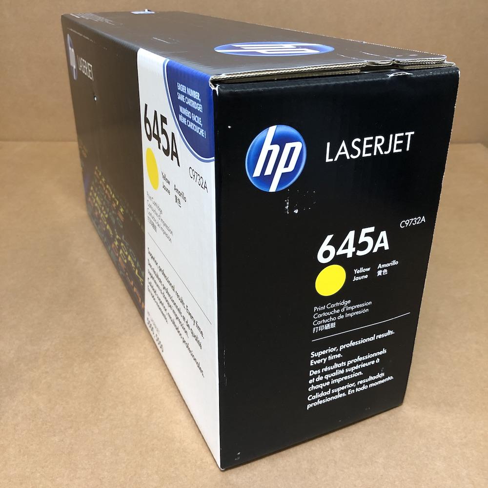 Genuine NEW HP Color LaserJet Yellow Toner Print Cartridge C9732A 645A NEW